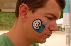 Design Face Painting Simple Cheek Art | And also something for boys