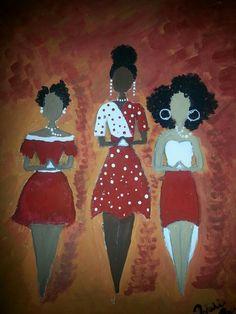 Our Favorite Pieces of African American Sorority Art - Black Southern Belle Delta Art, Delta Sigma Theta, African American Art, African Art, Omega Psi Phi, Natural Hair Art, Black Artwork, Afro Art, Black Women Art