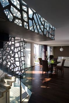 """Reminiscent of """"Federation Squares"""" interior glass panels in Melbourne Australia. My favourite Architectural building!"""
