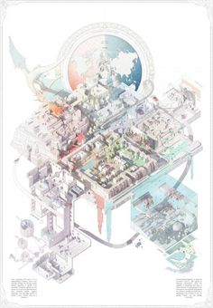 AA School of Architecture 2015 - Yah-chuen-shen Architecture Graphics, Architecture Drawings, Concept Architecture, Architecture Design, Axonometric Drawing, Isometric Drawing, Aa School, Architecture Presentation Board, Photomontage