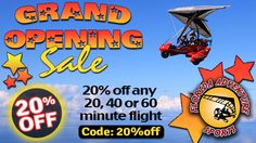 20% OFF ANY 20 - 40 - 60 MINUTE FLIGHT! Use code: 20%off See Amelia Island, Jacksonville Beach, Cumberland Island from above! ----------------- ‪#‎florida‬ ‪#‎adventure‬ ‪#‎sports‬