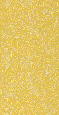 Laurus Saffron FSC certified Printed in the UK Size: 52 cm × 10 metres / 11 yd × 20 in Finish: Matt Yellow wallpaper Source by nailartpro wallpaper Iphone Wallpaper Yellow, Wallpaper Free, Cute Patterns Wallpaper, Fall Wallpaper, Iphone Background Wallpaper, Pastel Wallpaper, Aesthetic Iphone Wallpaper, Aesthetic Wallpapers, Fabric Wallpaper