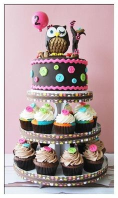 Owl baby cake theme! LOVE!!