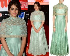 Rashi Khanna in Ridhima Bhasin #perniaspopupshop #shopnow #celebritycloset #designer #clothing #accessories
