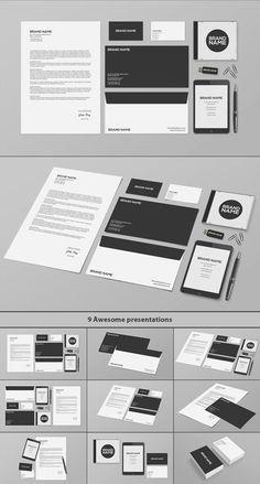 Stationery / Branding PSD MockUp psd mockups, product mockups, presentation mockups, mockup templates