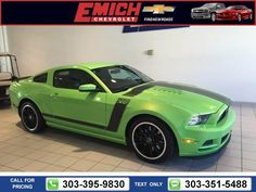 2013 Ford Mustang Boss 302 7k miles $37,499 7294 miles 303-395-9830  #Ford #Mustang #used #cars #EmichChevrolet #Denver #CO #tapcars