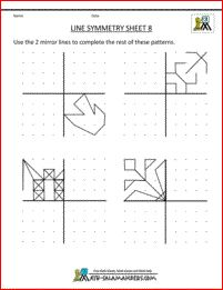 symmetry worksheets line symmetry 8- radial designs