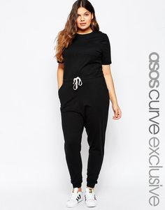 ASOS Curve | ASOS CURVE Casual Jumpsuit With Drawstring at ASOS