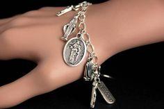 Christian Bracelets, Christian Jewelry, Catholic Jewelry, Thing 1, Bracelet Sizes, Our Lady, Fashion Bracelets, Jewelry Bracelets, Charm Jewelry