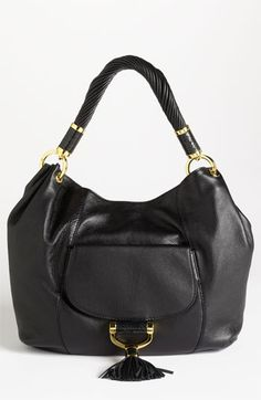 I love MK! Michael Kors 'Tonne' Leather Shoulder Bag available at #Nordstrom