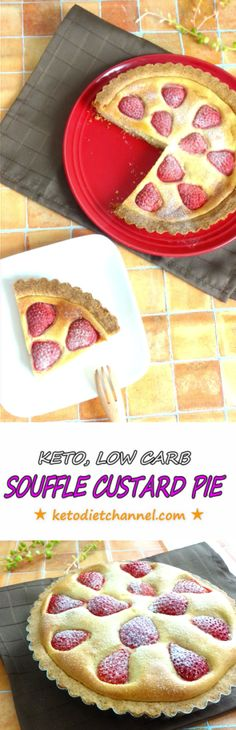 SOUFFLE CUSTARD PIE - Low Carb, Keto, Gluten Free, Sugar Free