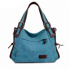 High-quality Women Multi-pocket Canvas Handbags Casual Crossboody Bag Leisure Shopping Shoulder Bags - NewChic Mobile.