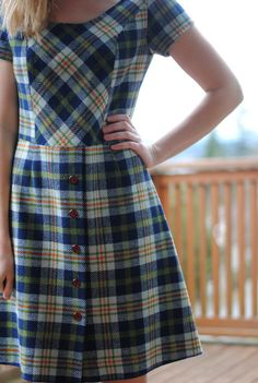 fall 1960s plaid dress.