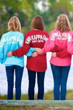 Kappa Kappa Gamma jerseys! Love these shirts!