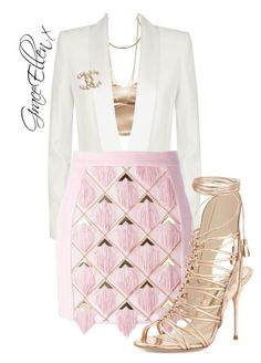 Untitled #105 by miss-grace-ellen on Polyvore featuring polyvore fashion style BCBGMAXAZRIA Balmain Sophia Webster Marc Jacobs Chanel clothing