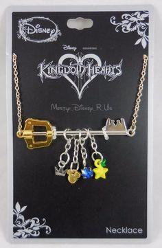New Disney Kingdom Hearts Sora Keyblade Charm Pendant Necklace Mickey Ears Crown #Disney #Pendant