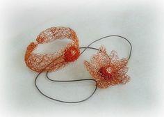 Copper jewelry set stone jewelry set carnelian by styledonna