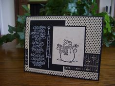Black & white; Sweet & Simple Salutations, Sidekick Sayings, Snowflakes stamp sets