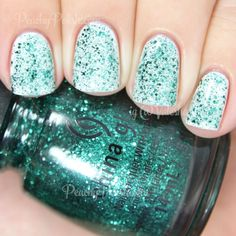 China Glaze Pine-ing For Glitter | Holiday 2014 Twinkle Collection | Peachy Polish OMG THIS COLOR <3 <3 <3