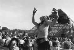 Not a cloud in the sky at Glastonbury in June 1971