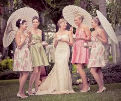 Parasols are completely necessary to go with your tea-party wedding (or not!)