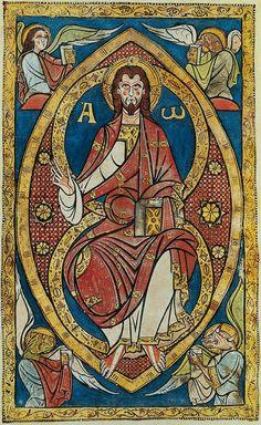 """Illuminations from the """"Sacramentaire de Saint-Étienne de Limoges"""", c. Medieval Manuscript, Medieval Art, Renaissance Art, Illuminated Manuscript, Religious Icons, Religious Art, Romanesque Art, Art Roman, Pictures Of Jesus Christ"""