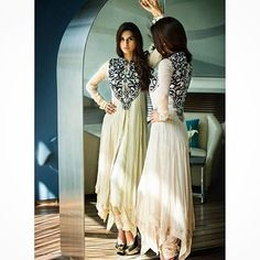 The THREADS & MOTIFS Designer Collection is now available at @Lashkaraa ✨  This beautiful Cream Anarkali Pishwas is only USD 215 including stitching and worldwide shipping!  Choose from the whole collection at www.lashkaraa.com