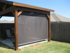 SUMMER SHADE - Add a manual patio shade to your pergola, outdoor kitchen or backyard living space.