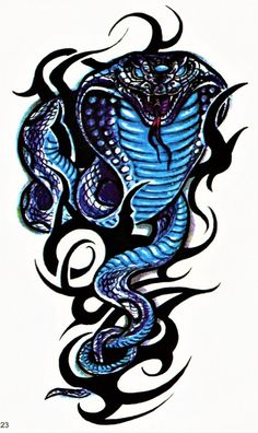 Cobra Snake Tribal Tattoo Page 20 Best 3d Tattoos, Best Tattoo Ever, Body Art Tattoos, Tatoos, Diy Tattoo, Kobra Tattoo, Tattoo Sites, Snake Art, Cool Tattoos For Guys