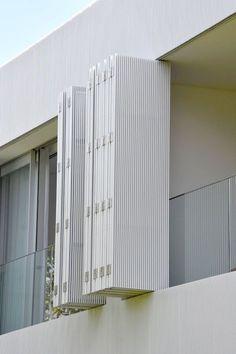 Considering a back veranda update. Facade Design, Exterior Design, House Design, Balustrade Balcon, Canvas Curtains, Grill Design, Building Facade, Facade Architecture, Curtains With Blinds