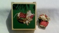 Vintage Hallmark Christmas Ornament - Napping Mouse - 1984 - Perfect Condition on Etsy, $15.00