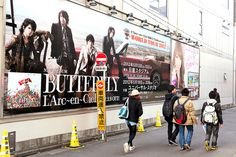 """Another L'Arc-en-Ciel """"Butterfly"""" billboard in Harajuku"""