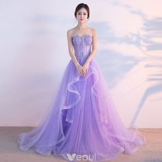 Strapless lavender tulle long fishbone senior prom dresses, long beaded evening dress from Sweetheart Dress Senior Prom Dresses, Tulle Bridesmaid Dress, Prom Dresses 2017, Beaded Prom Dress, Prom Dresses With Sleeves, A Line Prom Dresses, Cheap Prom Dresses, Day Dresses, Evening Dresses