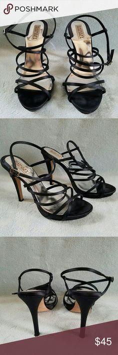 Badgley Mischka women's satin strappy heels Badgley Mischka women's satin strappy heels size 8.5 Badgley Mischka Shoes Heels