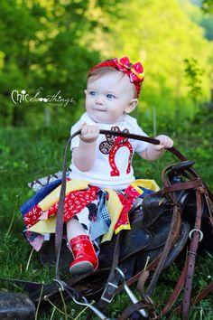 Fabric Tutu Cowgirl Jessie Shabby Chic Fabric by ChicSomethings, $30.00