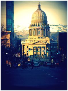 The Capitol Building in downtown Boise. 700 W Jefferson St