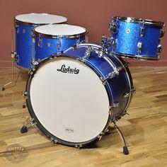 Ludwig Legacy 13/16/18/24 4pc Drum Kit Blue Sparkle
