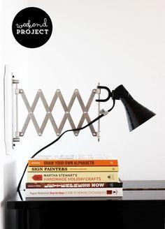 Poppytalk: Weekend Project: Accordion Sconce (Ikea Hack)