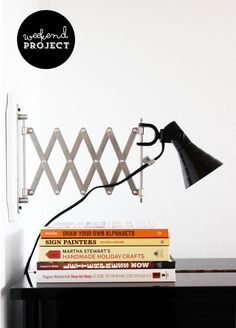 Poppytalk: Weekend Project: Accordion Sconce (Ikea Hack)