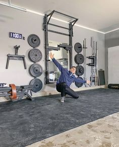 PRx Performance - Lift Big in Small Spaces (as seen on Shark Tank!) - That new home gym owner feeling… - Home Gym Basement, Home Gym Garage, Diy Home Gym, Gym Room At Home, Home Gym Decor, Basement Workout Room, Appartement Design Studio, Crossfit Home Gym, Dream Home Gym