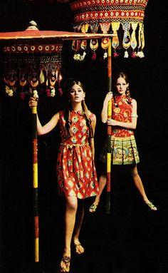Indian inspired fashion in Seventeen magazine, April 1968.