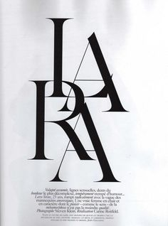 Vogue Paris: Editorial Type Treatments