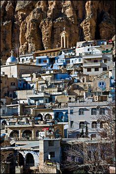 El antiguo pueblo de Maaloula, el último lugar donde el lenguaje arameo todavía se habla, Siria