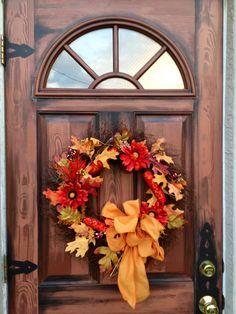 Fall Wreath, like the bow
