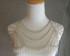 Shoulder necklace bridal | Etsy