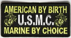 """Embroidered Iron On - American by Birth USMC Marine by Choice 4"""" Patch Ivamis Trading http://www.amazon.com/dp/B00RQ1QNS4/ref=cm_sw_r_pi_dp_K0c-vb029JCWH"""
