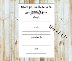 Advice for the Bride to Be - Feathered Arrow