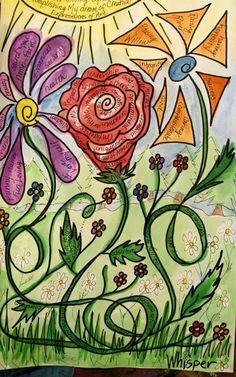Self esteem flowers! Creative Expressions of Art,  Meadville, Pa www.facebook.com/creativeexpressionsofart