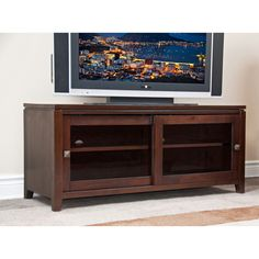 Essex Coffee Brown TV Media Stand | Overstock™ Shopping - Great Deals on WyndenHall Entertainment Centers