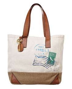 Fossil vintage reissue fabric tote